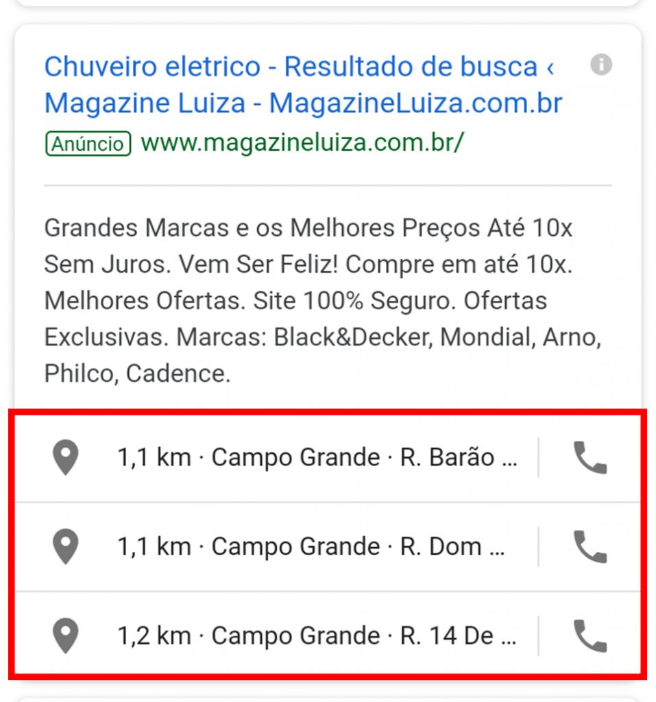 Extensões de anúncio - Google Ads
